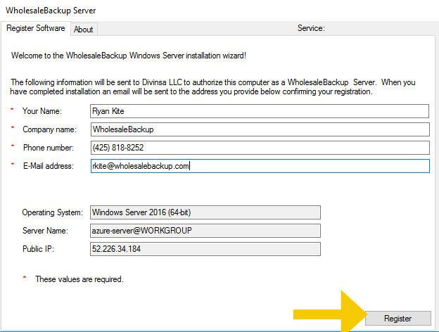 register-backup-server-software