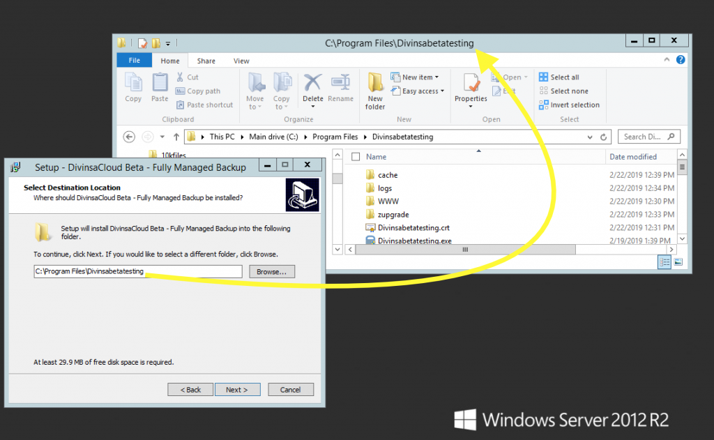 install in the same folder as existing installation